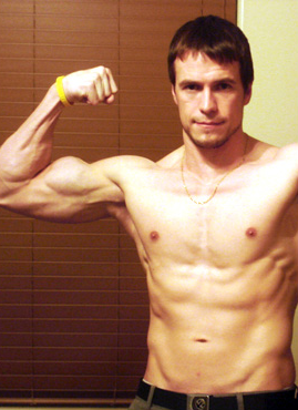 Jed's natural muscle building photo