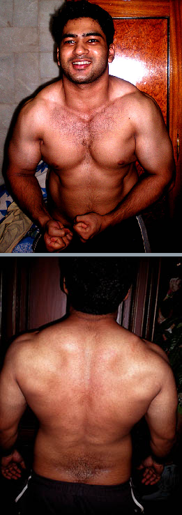 Raheel's natural muscle building photo