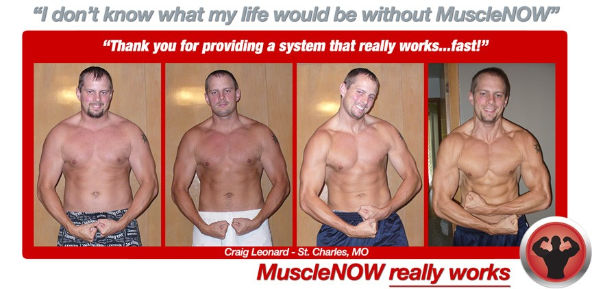 Craig builds muscle and burns fat naturally