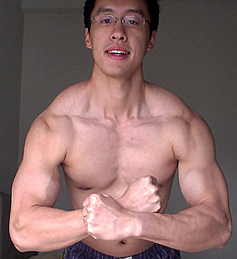 Peter's natural muscle building photo