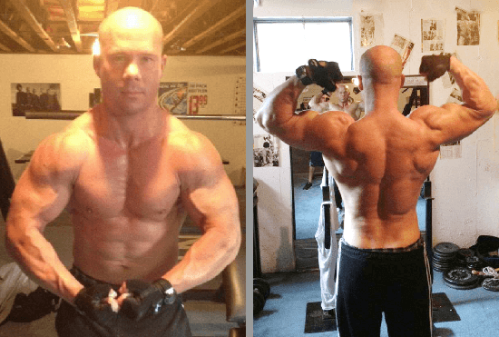 Natural muscle building results by Brett